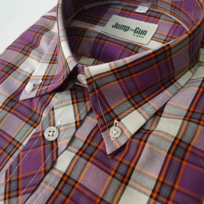 Purple Bright check 057 s/s