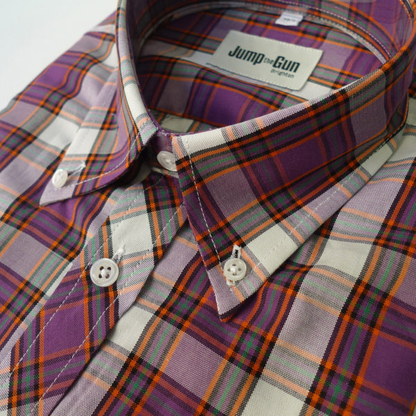 Purple Bright check 057 s/s
