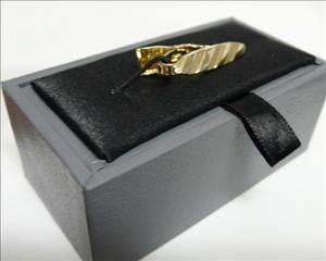 Tie bar Gold stripe