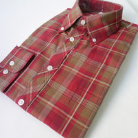 Red & sand check 052 L/S