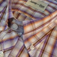 JTG Purple & Orange Check L/S