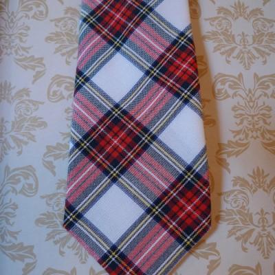 Tartan Red/White tie
