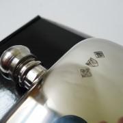 English made Pewter hip flask