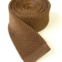 Light brown knitted tie