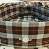 JTG Brown and White Check L/S