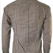 JTG Gingham long sleeve-Brown