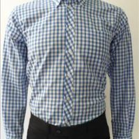 JTG Gingham Long sleeve Sky