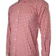 JTG Gingham Long sleeve-Red