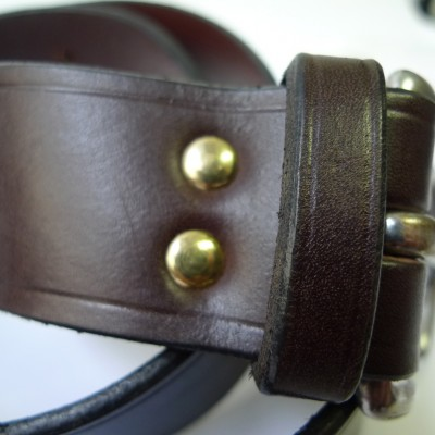 Brown Leather belt- wide