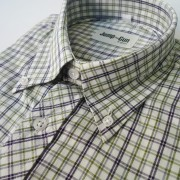 Nvy & Green check 056 L/S