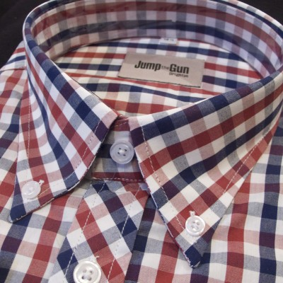 Navy/Red Gingham S/S 060