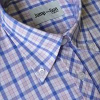 JTG Sky and Pink check short sleeve