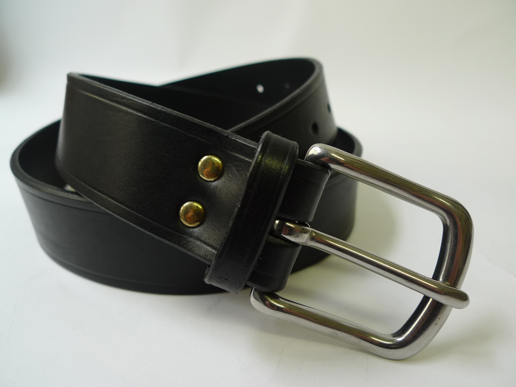 black leather belt wide jump the gun