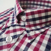 Berry/Blue Gingham S/S 063