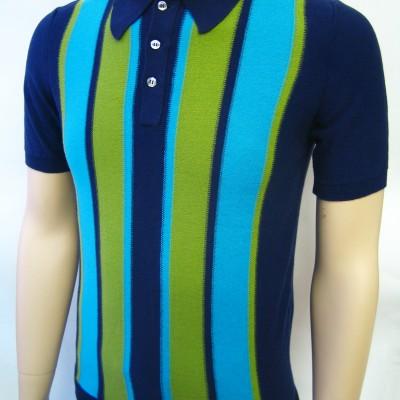 JTG Vertical stripe S/S polo