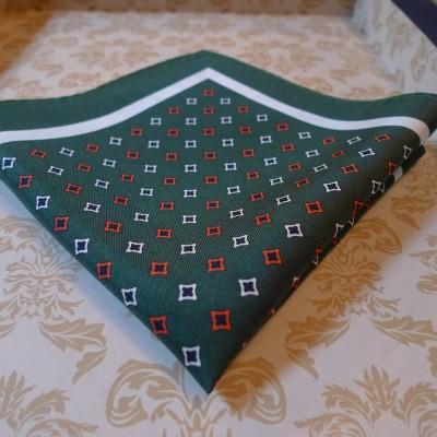 Silk Green diamond pocket square