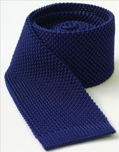 Mid Blue Knitted Tie