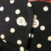 JTG Polka Dot Navy Long Sleeve