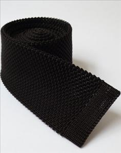 Brown Knit Slim jim tie