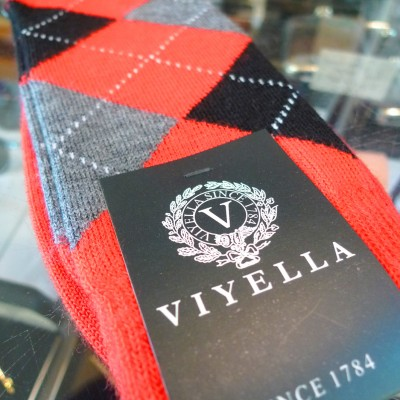 Viyella Red Argyle