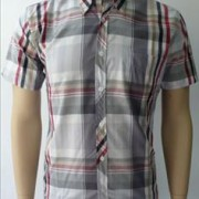 JTG Grey and Red check. Short Sleeve.