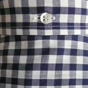 JTG Gingham Navy Short sleeve