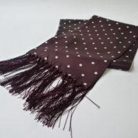 JTG Burgundy polka scarf