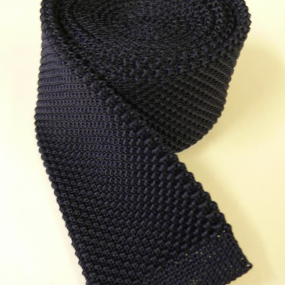 Dark Navy knitted tie