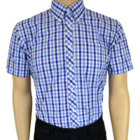 Short Sleeve Gingham Shirts