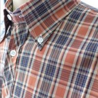 JTG Rust & Navy Check S/S