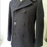 Navy US Peacoat by Sterlingwear Boston