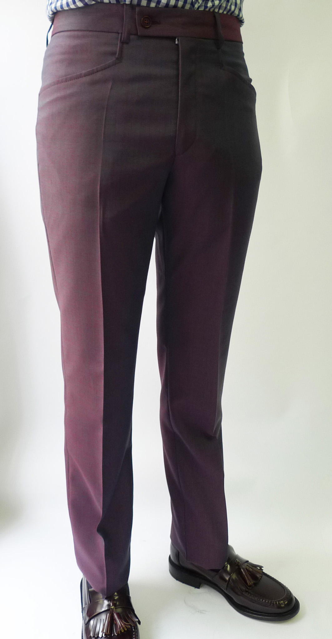3 Ply Mohair Two Tone Purple Tonic Suit By Jtg Jump The Gun