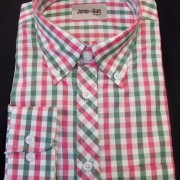 Green & Red Gingham L/S 062