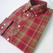 Red & sand check 052 S/S