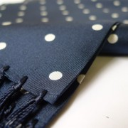 JTG navy polka scarf