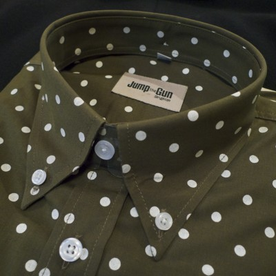 Olive Polka dot Short sleeve