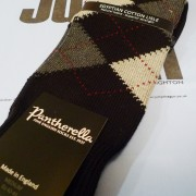 Pantherella Black/Grey Argyle