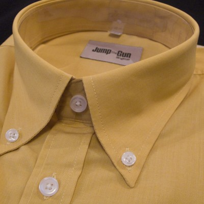 Plain Ochre JTG Button down SS