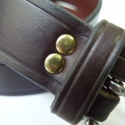 Brown Leather belt- Narrow