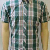 Green Bright check 058 S/S