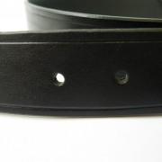 Black Leather belt -wide