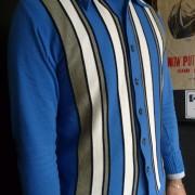 JTG Blue stripe Button through