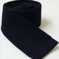 Navy Blue Knitted Tie