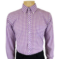 Long Sleeve Gingham Shirts